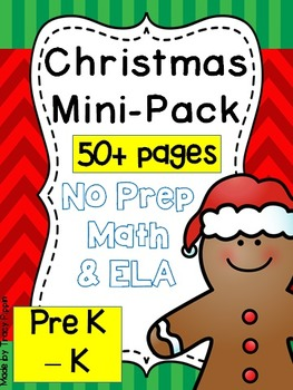 Christmas and Winter NO-PREP pack for PreK and K