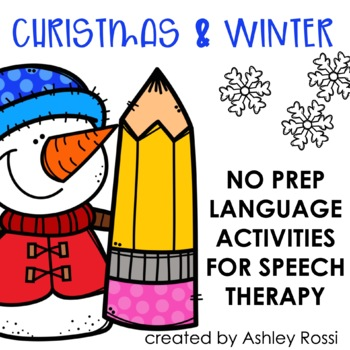 Christmas and Winter No Prep Language