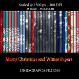 Christmas and Winter Paper Set