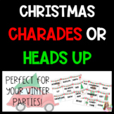 Christmas and Winter Party Charades or Heads Up