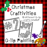 Christmas and Winter Q-Tip Painting Activities - (18 Q-Tip