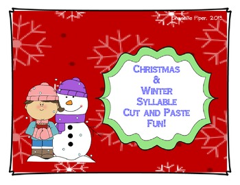 Christmas and Winter Syllable Cut and Paste Sort