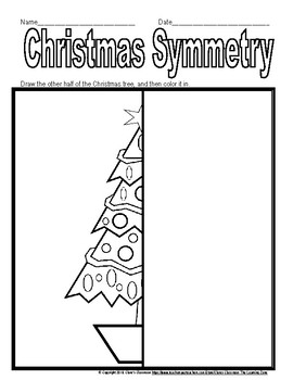 Christmas and Winter Symmetry Worksheets