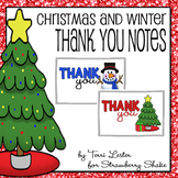 Christmas and Winter Thank You Notes: Writing Paper for Teachers