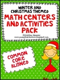 Christmas and Winter Math Centers - Christmas Activities -