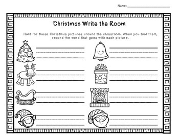 Christmas and Winter Write the Room