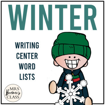 Christmas and Winter Writing Center Lists