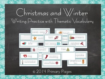 Christmas and Winter Writing Practice Center