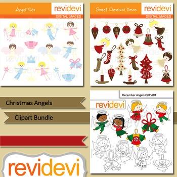 Christmas angels clip art bundle (3 packs)