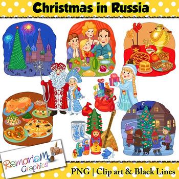 Christmas around the World Clip art Russia