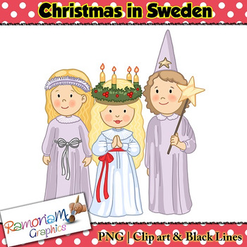 Christmas around the World Clip art Sweden
