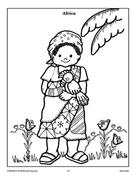 Christmas around the World: Coloring Pages