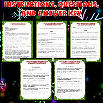 Christmas Around the World Activities (Christmas QR Codes Scavenger Hunt)