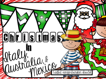 Christmas around the world Comprehension Sheets!