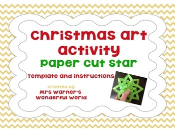 Christmas art activity - paper cut star