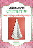 Christmas art and craft activity - Paper cut Christmas Tree