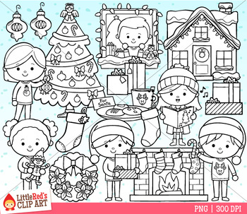 Christmas at Home Clipart