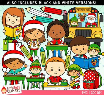 Christmas at School Christmas Clip Art