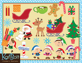 Christmas at the North Pole - Clip Art