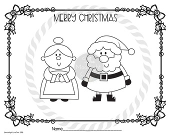 Christmas at the North Pole Coloring Book