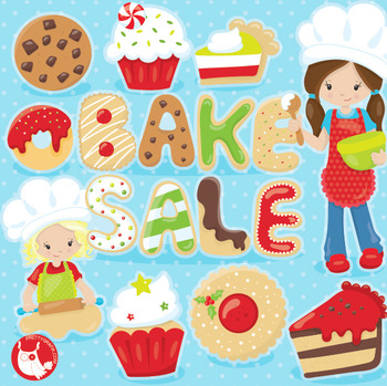 Christmas bake sale clipart commercial use, vector graphics, digital  - CL1026