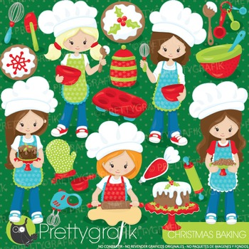 Christmas baking clipart commercial use, vector graphics, digital - CL925