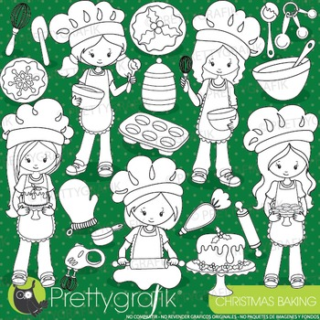 Christmas baking stamps commercial use, vector graphics, images  - DS925