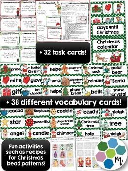 Christmas bundle - activities, language, math, crafts, games and calendar!