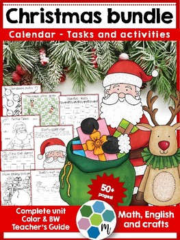 Christmas bundle - activities, language, math, crafts, gam