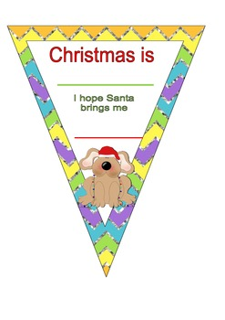 Christmas bunting craft
