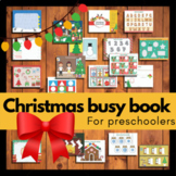 Christmas busy book | Preschool busy binder