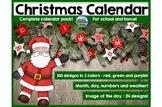 Christmas calendar for school and home use!