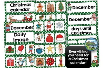 Christmas calendar for school and home use!