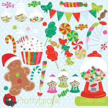 Christmas candy clipart commercial use, vector graphics, digital - CL709