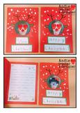 Christmas card - Reindeer card, Elf card - Personalized, P