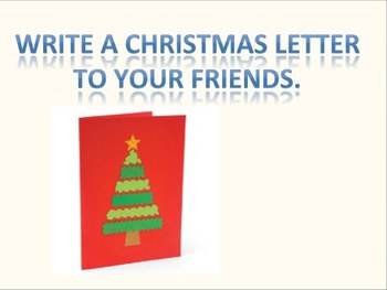 Christmas card brainstorming and writing excercise