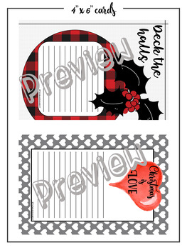 Christmas cards, to do lists, journal cards, organisation, planner printables