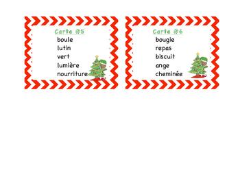 Christmas : cartes à tâches - ordre alphabétique - Noël.
