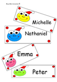 Christmas classroom label templates