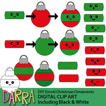 Christmas Clip Art Diy Emoti Christmas Ornaments Clipart