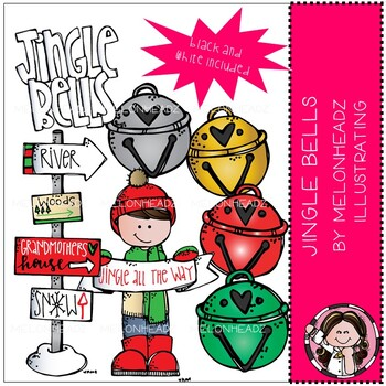 Christmas clip art - Jingle Bells - Mini - Melonheadz Clipart