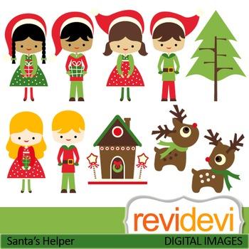 Christmas clipart: Santa's little helper
