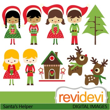 Christmas clipart: Santa's little helper