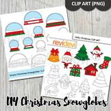 Christmas clip art bundle (DIY Christmas snow globes)