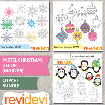 Christmas clip art mega bundle