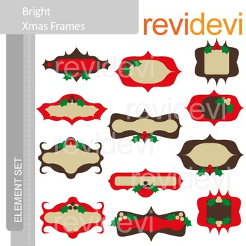 Christmas clip art: frames
