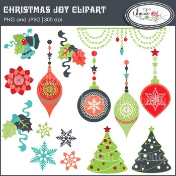 Christmas clipart, Christmas ornaments clipart