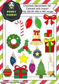 Christmas clipart - Decoration set