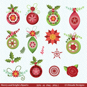 Holiday Decor Clipart Christmas Ornament Clipart Christmas Clipart