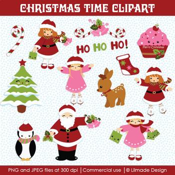 Christmas clipart, Winter clipart,  Christmas kids clipart, reindeer clipart